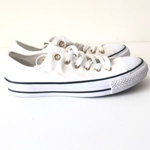 Converse White Chucks Shoes Double Tongue NEW